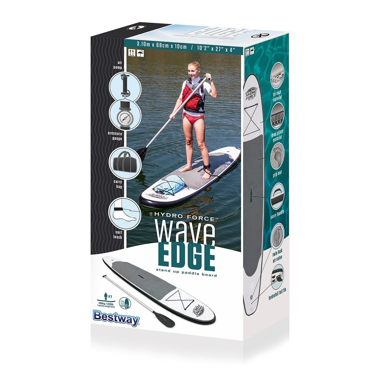 amazon com hydroforce waveedge inflatable stand up paddleboard