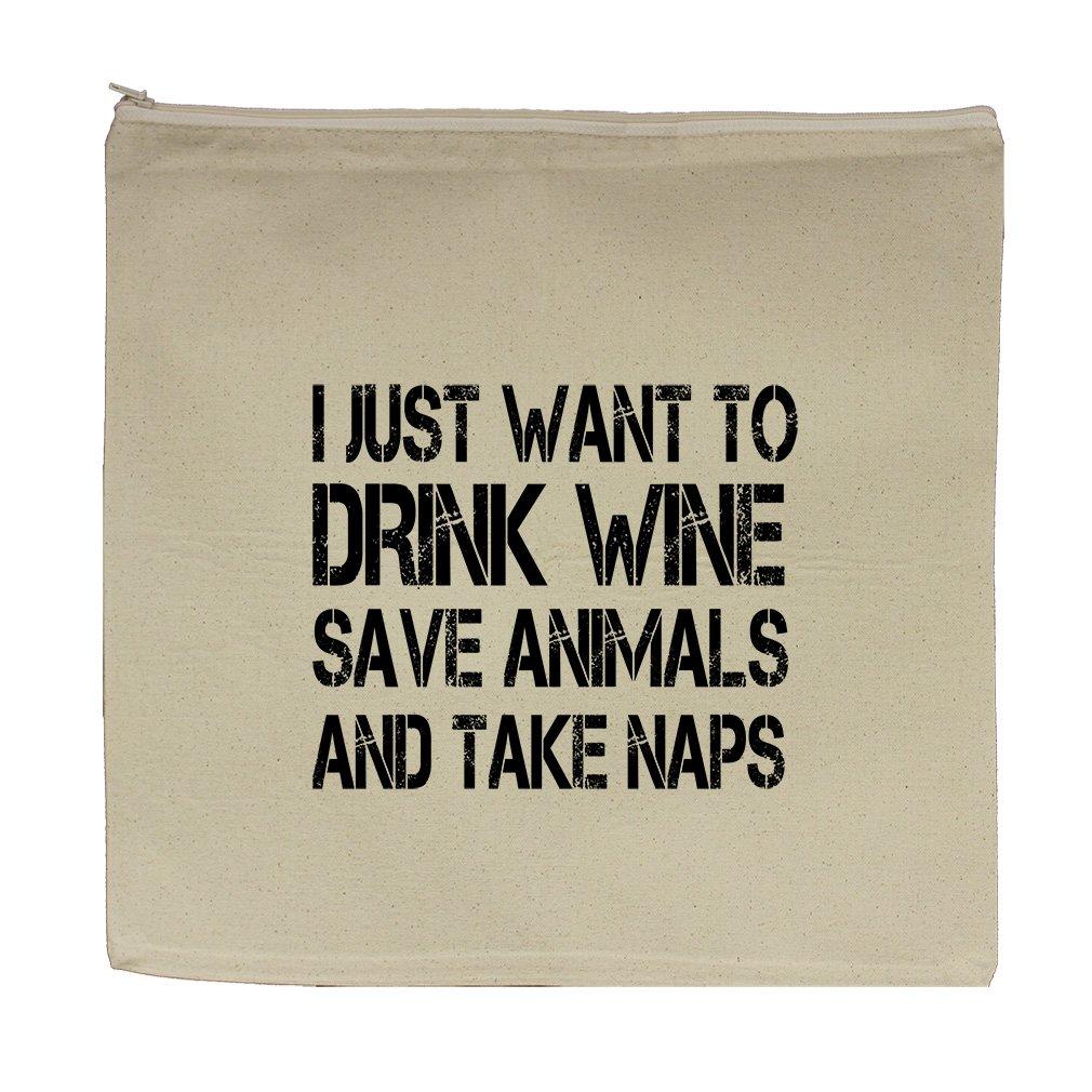 I Just Want Save Animals And Take Naps Canvas Zipper Tote Bag Makeup Bag