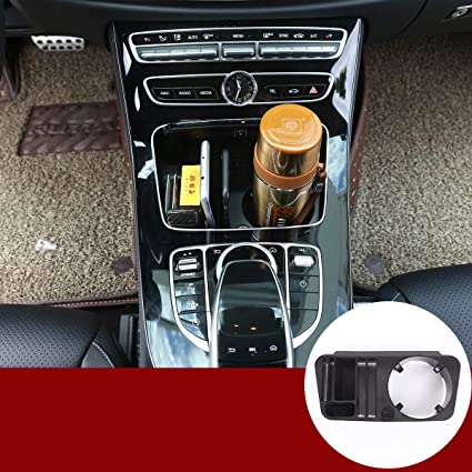 Plastic Central Console Storage Box Cup Holder Accessory for E class c207 Coupe 2014-2017 E class w212 w213 2014-2017 GLC C-class w205 2015-2016