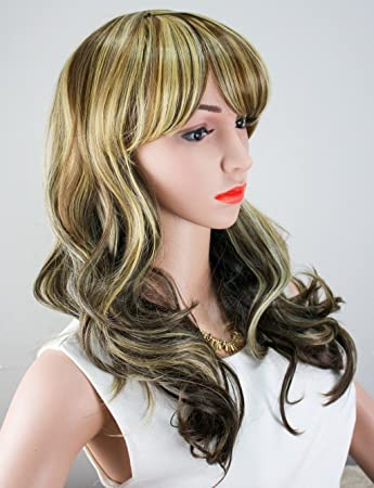 Amazon.com: WELLKAGE Womens Long Big Wavy Hair Wigs Blonde Cosplay Wigs: Beauty