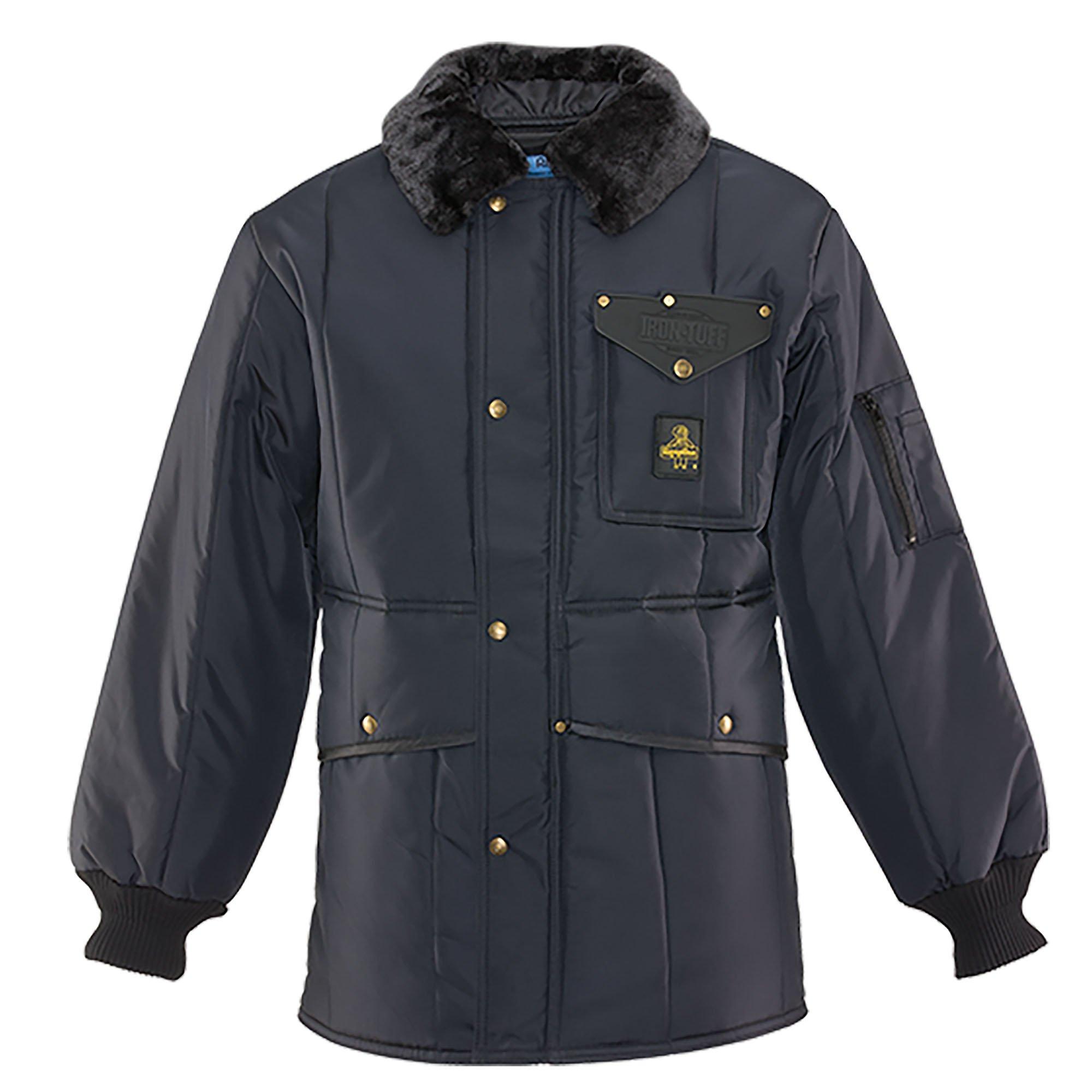 RefrigiWear Men's Iron-Tuff Jackoat Workwear Jacket, Navy 2XL Tall