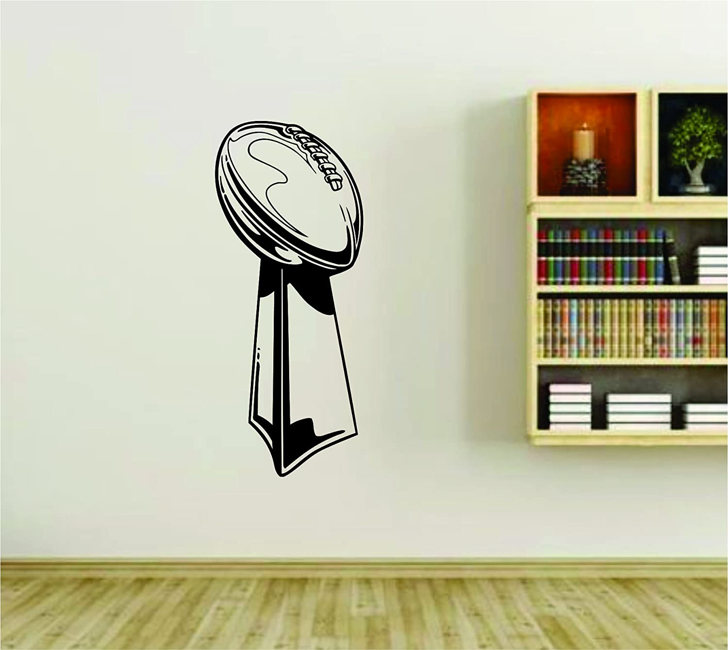 Amazon football lombardi trophy super bowl nfl vinyl wall amazon football lombardi trophy super bowl nfl vinyl wall decal sticker car window truck decals stickers lmbrditrophy 12x28 everything else amipublicfo Gallery