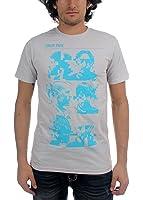 Linkin Park - Männer Glitch Portrait T-Shirt in Silber