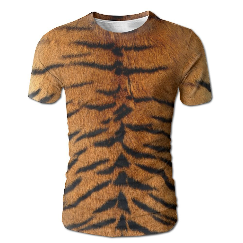 Amazon 3d Digital Print Tiger Skin Short Sleeve T Shirt Custom