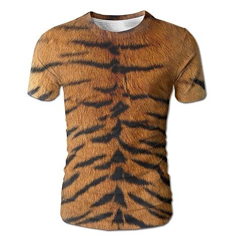 3D Digital Print Tiger Skin Short Sleeve T Shirt Customized Fashion Tee  Small ec830af66