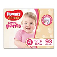 Huggies Ultimate Nappy Pants ,Boys, Size 4 Toddler (10-15kg), 93 Count