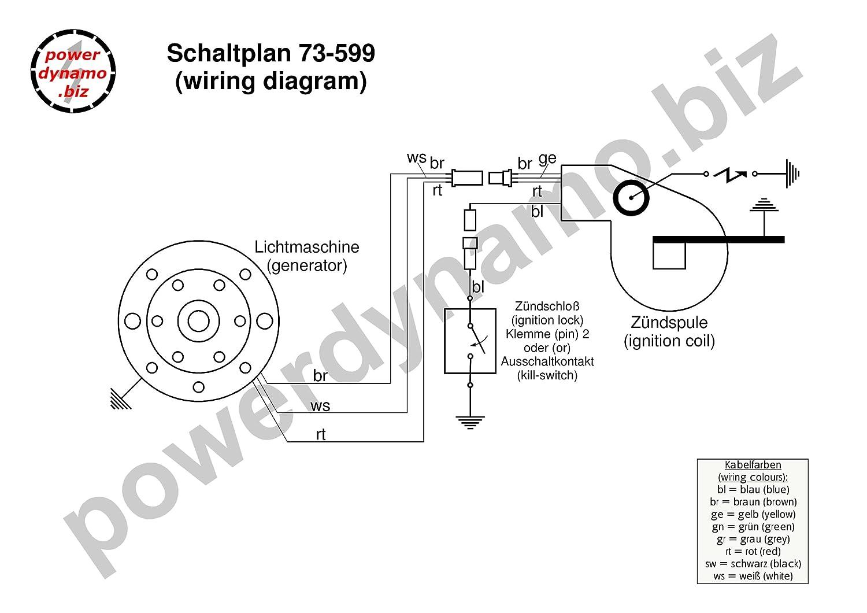 Powerdynamo Vape Ignition Only Stator Bultaco 78 Pursang Braun Wiring Diagram 250 35oz 14mm Flywheel Automotive