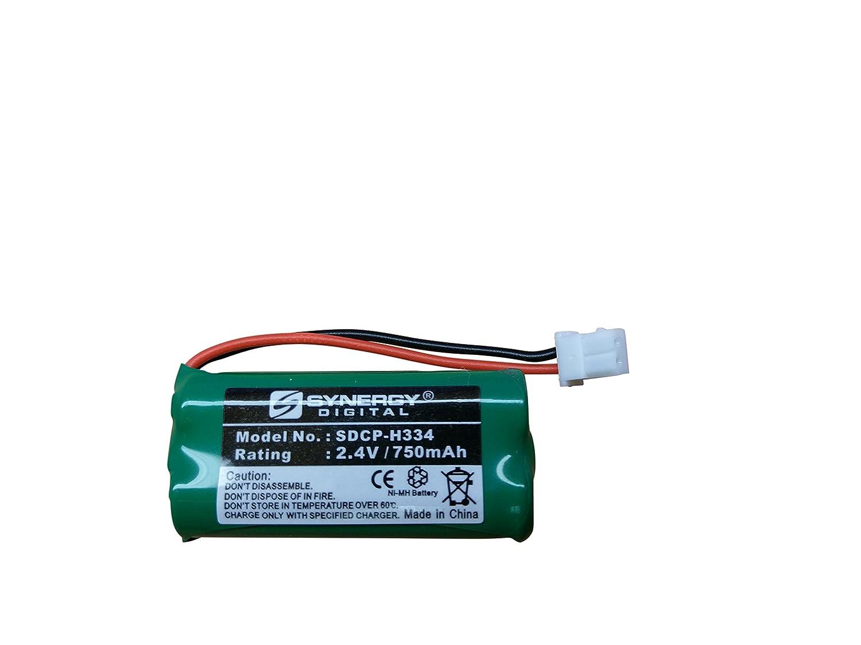 Att EL52260 Cordless Phone Battery SDCP-H334 - Ni-MH 2.4 Volt, 750 mAh, Ultra Hi-Capacity Battery - Replacement Battery for American Telecom, At&t & Vtech Cordless Phone Batteries Synergy Digital BF456252