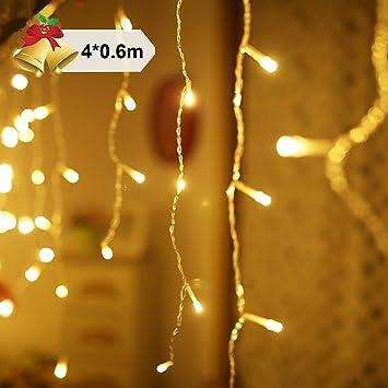 Rideau Lumineux De Led 4 X 0 6m 144 Leds Guirlande Lumiere