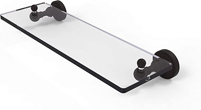 Allied Brass NS-1//16-ORB 16 Inch Glass Vanity Shelf with Beveled Edges Oil Rubbed Bronze