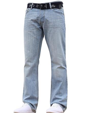 Stone Edge Mens Designer Straight Regular Denim Jeans Pants All Waist Leg  Sizes  Amazon.co.uk  Clothing 7e256ef8f