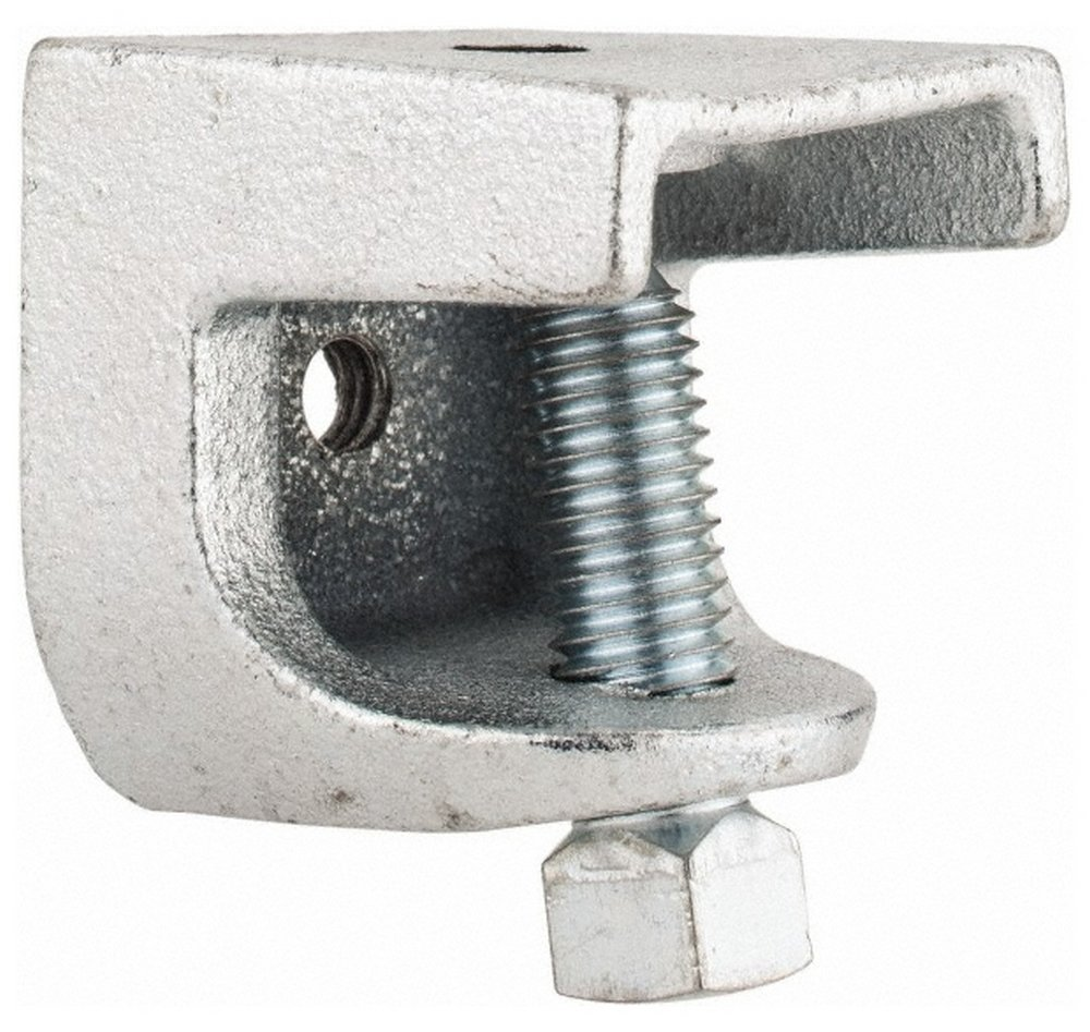 1'' Max Flange Thickness, 3/8-16'' Rod Standard Beam Clamp, 1,300 Lb Capacity, Malleable Iron