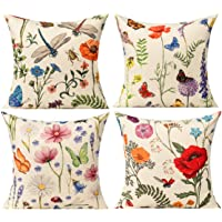 All Smiles Bench Pillows Outdoor Patio Cushion Garden Spring Flowers Throw Pillow Cases Summer Farmhouse Home Decor…