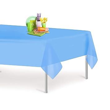 Amazon Com Sky Blue 12 Pack Premium Disposable Plastic Tablecloth