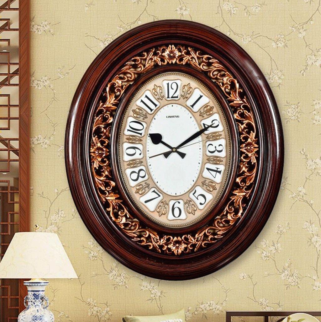 TXXM リビングルームヨーロッパの高級クォーツ時計の壁時計ミュート現代の古典的な壁時計 (色 : A) B07FB13GW7A