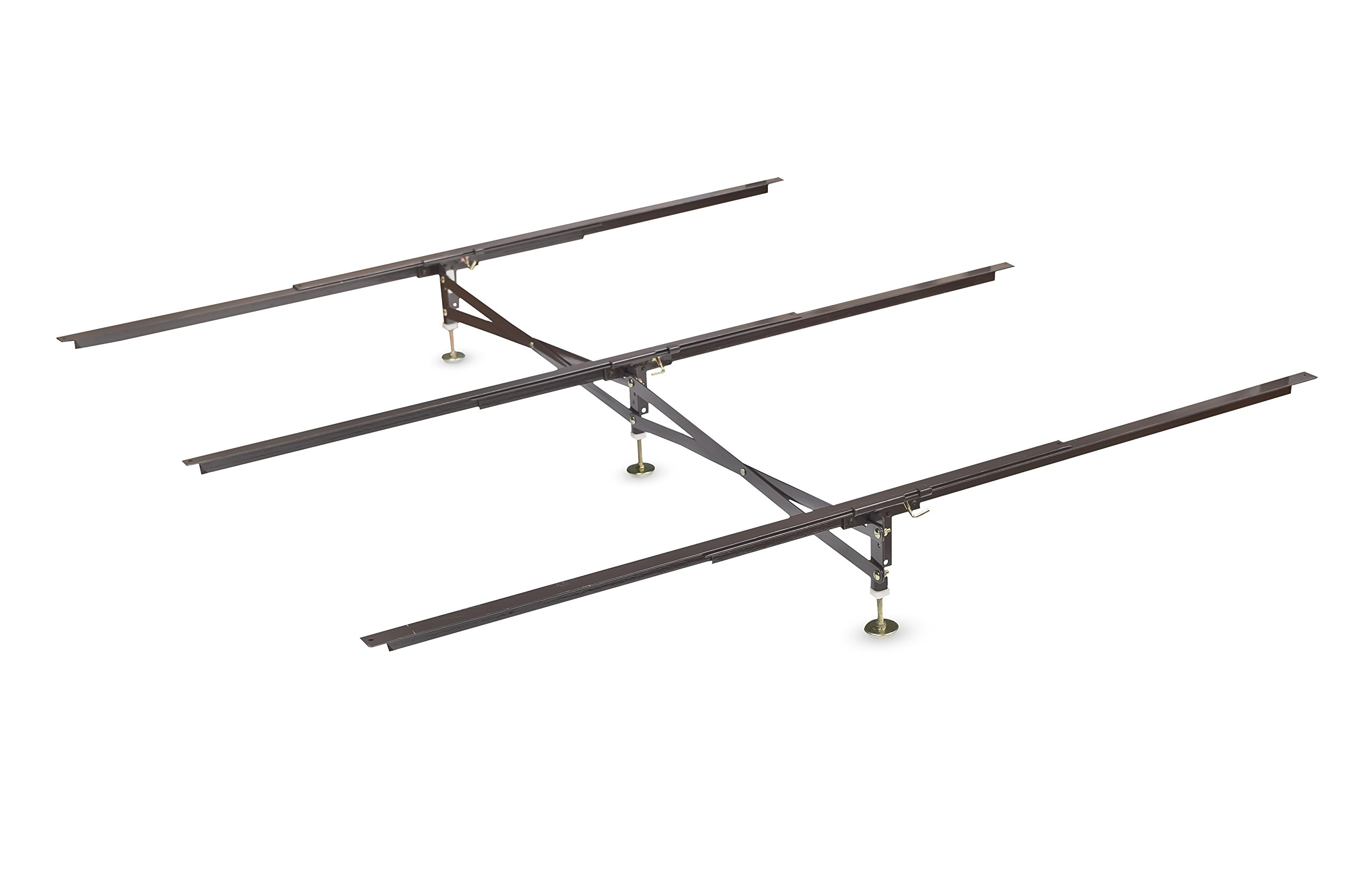 Glideaway X-Support Bed Frame Support System, GS-3 XS Model - 3 Cross Rails and 3 Legs - Strong Center Support Base for Full, Queen and King Mattress, Box Springs, and Bed Foundations by Glideaway