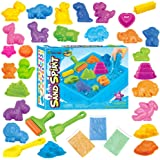 Kinetic Sand Molding Play Sand with Sand Tray Gift Sets For Kids With Multiple Animal Model and Accessories Creative Educational Toy DIY kids Gift (30pcs) | Includes 3lb Sand and 1 Sand Tray