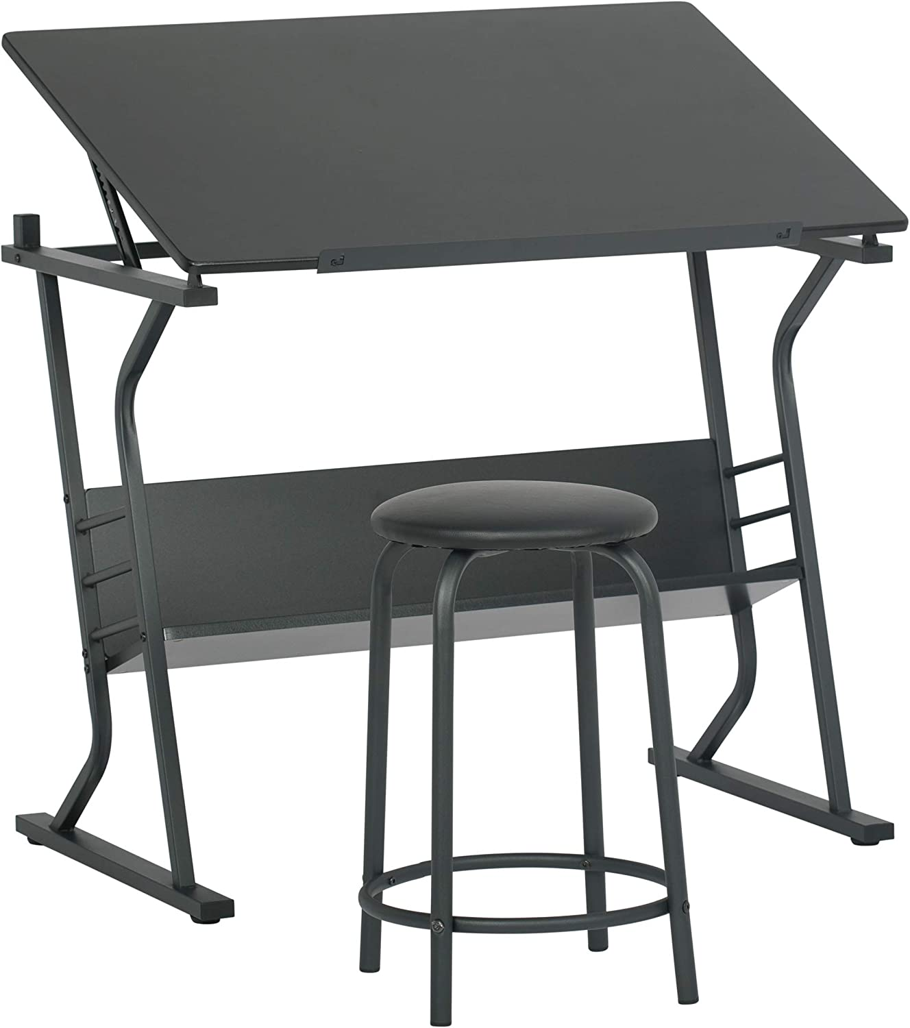 STUDIO DESIGNS Eclipse Table with Stool in Black