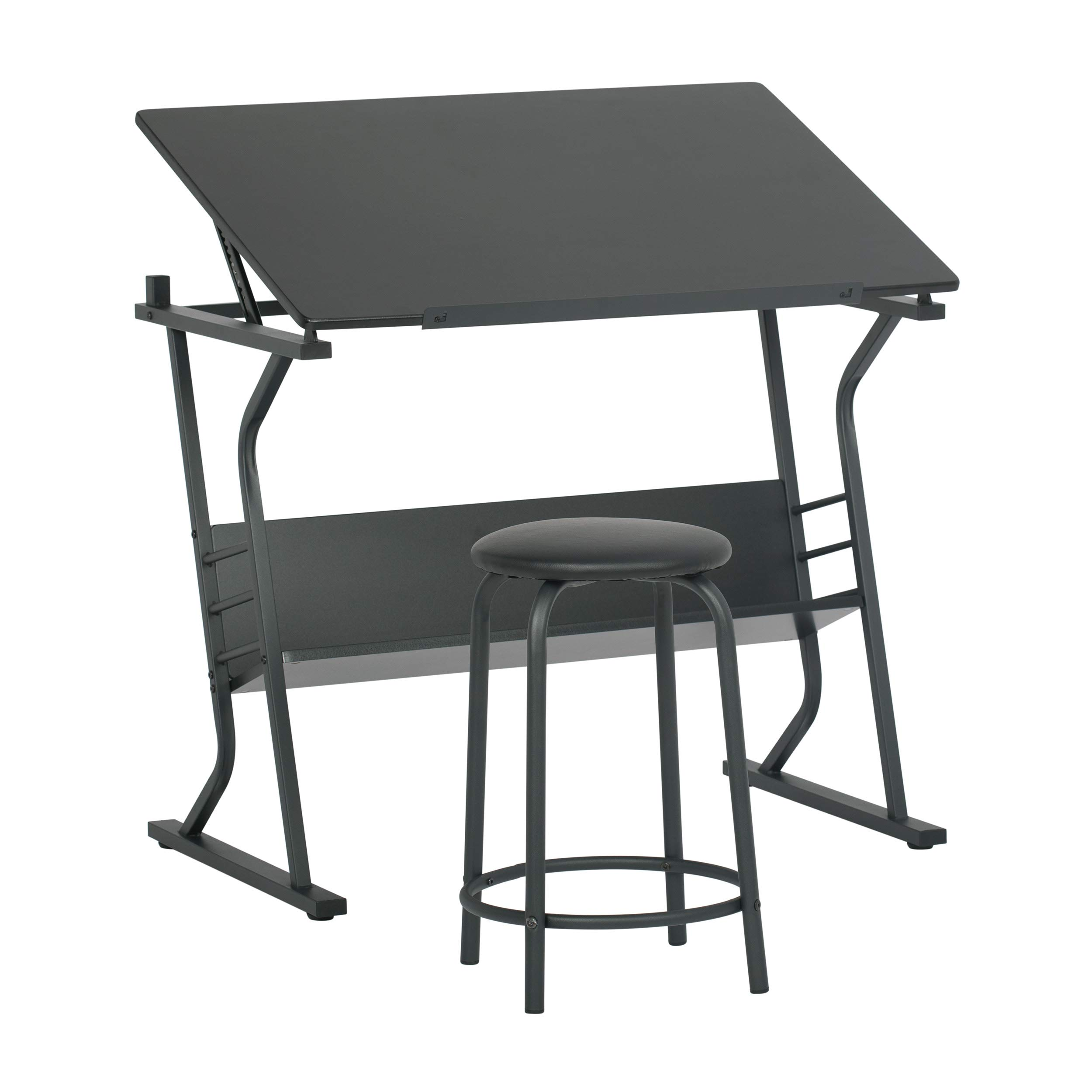 STUDIO DESIGNS Eclipse Table with Stool in  Black 13366 by SD Studio Designs