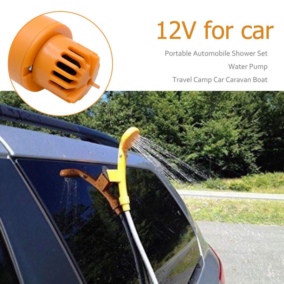 12V Portable Automobile Shower Set Water Pump Travel Camp Car Caravan Boat UK