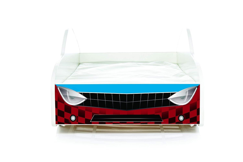 Nobiko Autobett Kinderbett Bett Schlafzimmer Kindermöbel Spielbett 160x80 Matratze Matratze Matratze Lattenrost (13) 4e618c