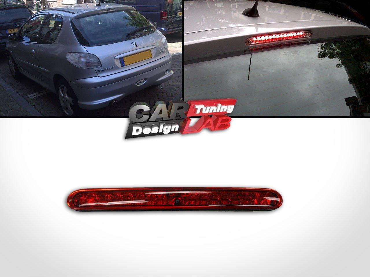 CarLab 3Arrière À Troisième Arrêt De Frein Lampe 2D 5D Objectif Rouge LED Rouge