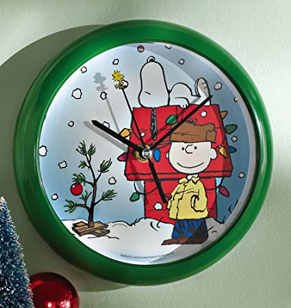 amazoncom charlie brown snoopy musical christmas clock by collections etc home kitchen - Musical Christmas Clock