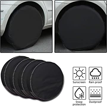 "Set of 4 Car Tire Covers Camper for Auto RV Truck railer 32/"" inch Diameter"