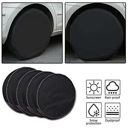 Fits 30 to 32 Set of 4 Tire Covers,Tire Covers for RV Auto Truck Car Camper Trailer Waterproof Sun-Proof Weatherproof Tire Protectors
