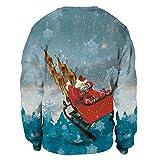 U LOOK UGLY TODAY Unisex Sweatshirt Large, Santa
