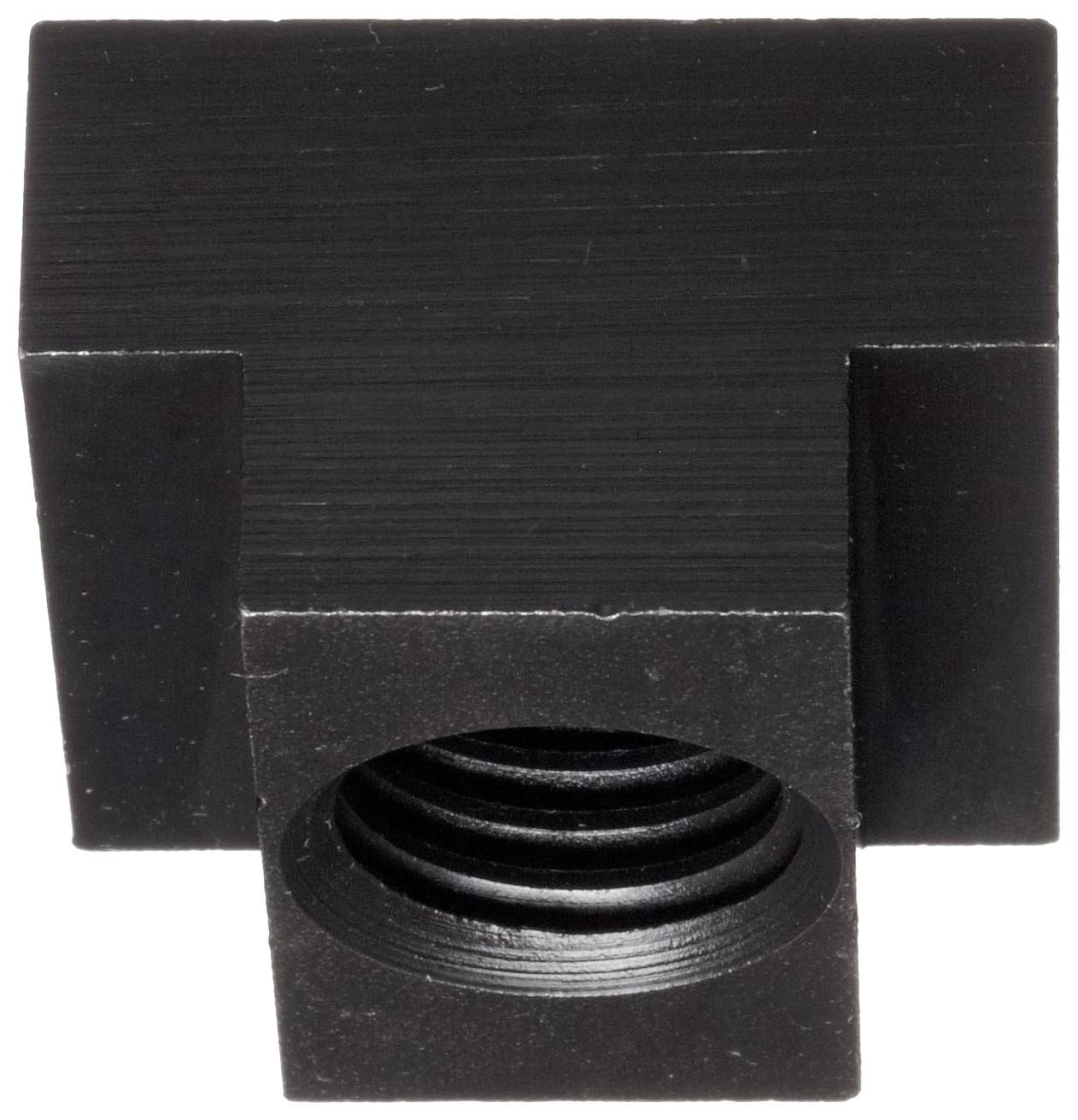 19mm Height Slot Depth Steel T-Slot Nut Class 6H M16 Threads Right Hand Threads Black Oxide Finish Made in US