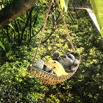 Adornos De Papá Noel Jardín Al Aire Libre Decoraciones De Animales Artesanía De Resina Adornos Colgantes Estatuas Al Aire Libre - (A B C D E F G) E:17 * 10 * 8cm: Amazon.es: Bricolaje y herramientas