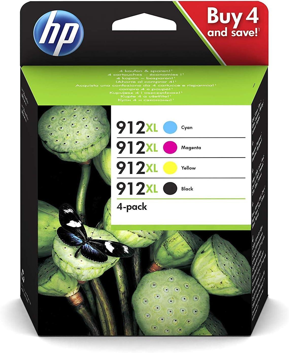 Hewlett-Packard 3YP34AE - Juego de 4 Cartuchos de Tinta Originales ...