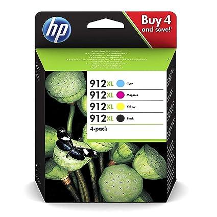 Hewlett-Packard 3YP34AE - Juego de 4 Cartuchos de Tinta ...