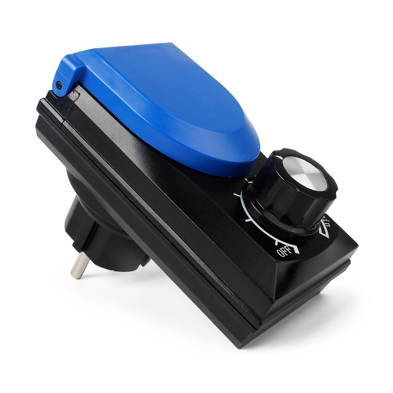 YAOBLUESEA Règles éconergétiques de Pompe d'étang de régulateur de Vitesse de contrôleur de Vitesse de contrôleur de Vitesse, 20-800W