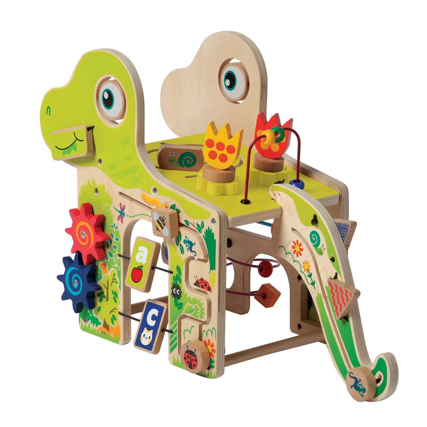 Manhattan Toy Playful Dino Wooden Activity Center Baby Toy