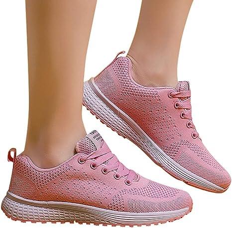 Zapatillas Running Hombre Mujer Zapatos Deporte para Correr Trail Fitness Sneakers Ligero TranspirableRosadoEU35: Amazon.es: Bebé