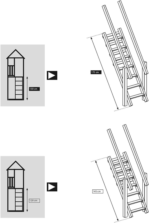 Demmelhuber Blue Rabbit 2.0 Anbaumodul Treppe @Steps f/ür Spielt/ürme Leiter Spielturm Zubeh/ör