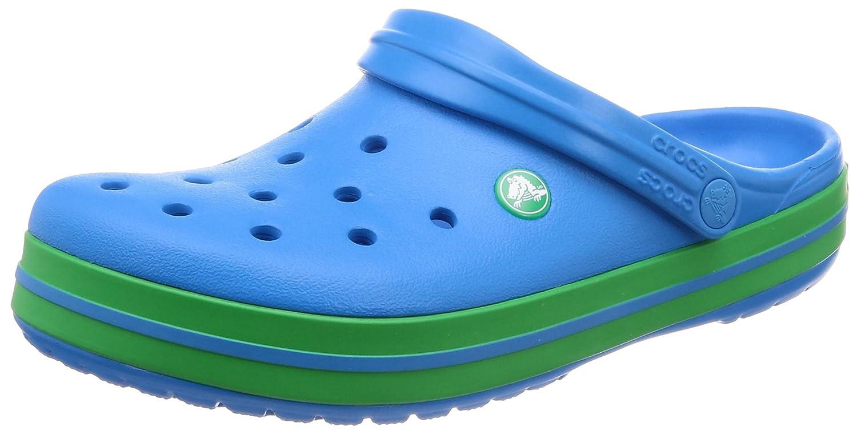 crocs Unisex Erwachsene Crocband Clogs Ocean/Grass Green Billig und erschwinglich Im Verkauf