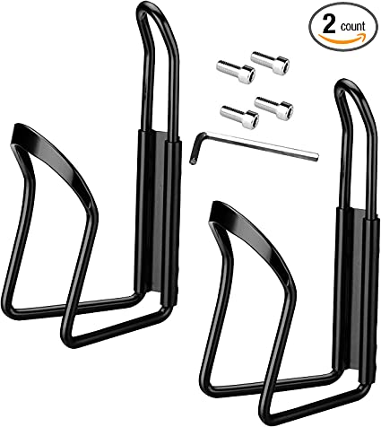 2 Pcs Water Bottle Cages MTB Bike Bicycle Alloy Aluminum Lightweight Holder Cage