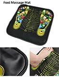 Foot Massage Walking Mat Pad Reflexology Acupressure Relaxing Pressure Muscle Pain Relieve (Black)