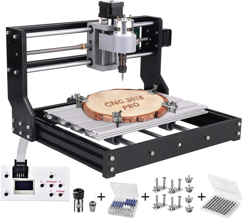 Kacsoo 2-in-1 CNC 3018 Pro Lasergravurmaschine mit Lasermodulen CNC-Fr/äserkit GRBL Control 3 Achsen DIY Mini-Laserengraver f/ür Holz PCB PVC Kunststoff Acry 3018PRO-10000