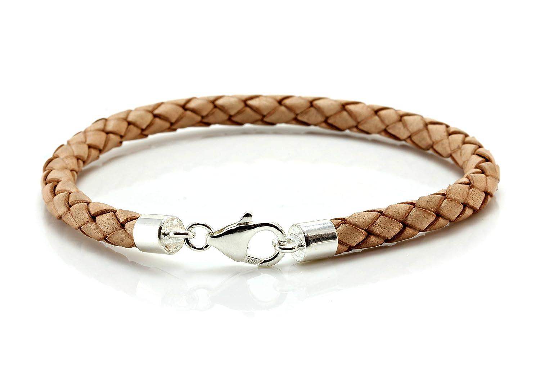 Mens//Ladies 5mm Rubber Bracelet-925 Sterling Silver Twist Clasp-Rubber Wristband
