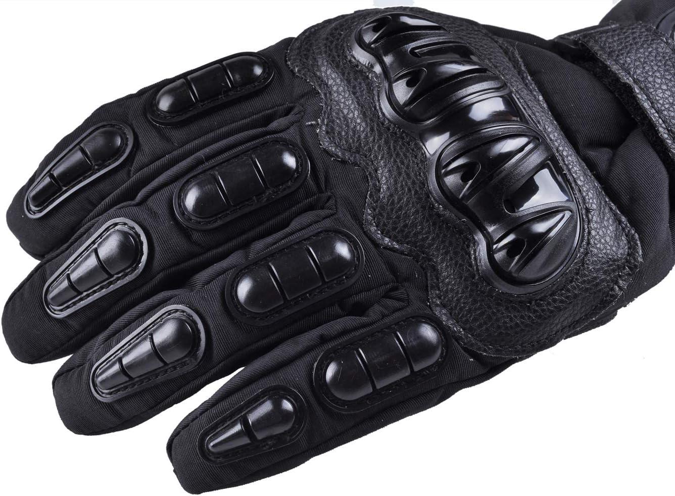 XX-Large, black MADBIKE Gants de moto /Écran tactile /étanche Gants de moto hiver pour hommes