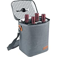 Samshow Insulated 4-Bottle Wine Carrier Tote