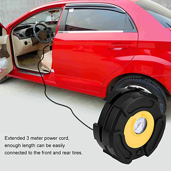 100PSI 12V Electric Portable Digital Tire Inflator with Inflation Nozzle Adapters for Car Truck Bike Tires and Other Automobiles Acouto Air Compressor Pump