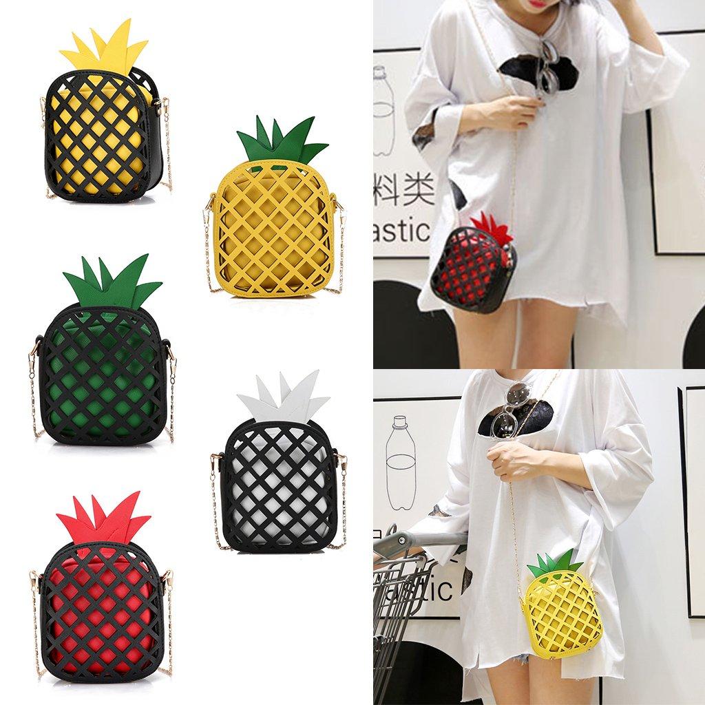 Amazon.com: JAGENIE Women Cute Fruit Pineapple Handbag ...