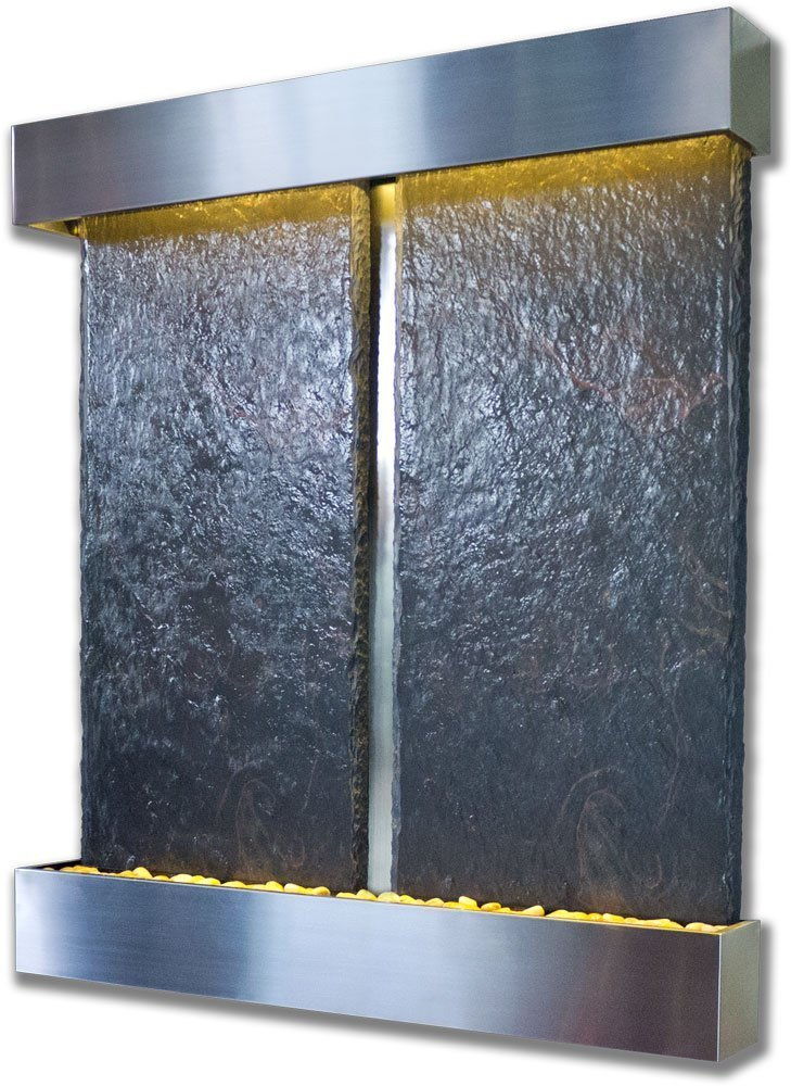 Water Wonders Slatetech Harmonious Falls with Stainless Steel Trim