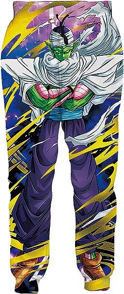 Vogseek Teenager Dragon Ball Z Joggers Pantalones con cordón Anime ...