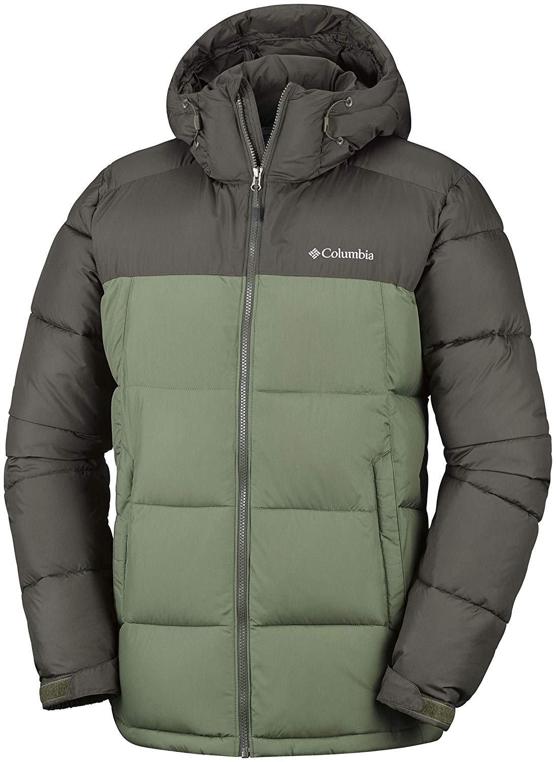 Columbia Chaqueta Impermeable con Capucha para Hombre, Pike Lake Hooded Jacket, Marrón (Peatmoss